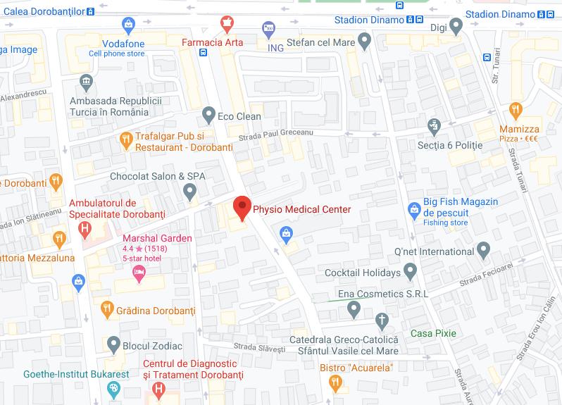 cabinet ortopedie Bucuresti strada Polona